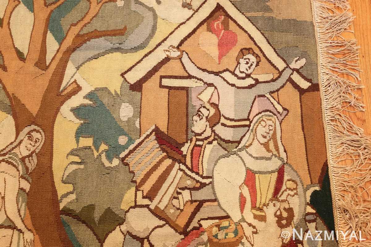 vintage swedish tapestry 48283 music Nazmiyal