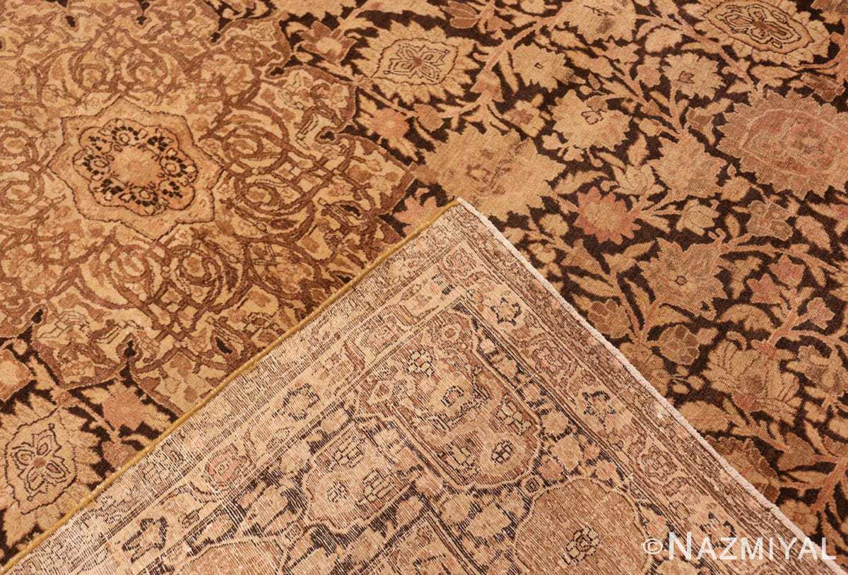 Weave Antique brown Ardabil design Persian Tabriz carpet 48273 by Nazmiyal