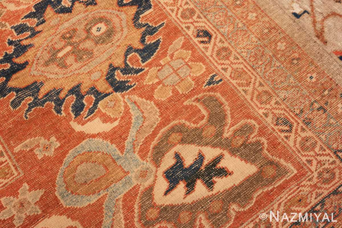 Weave detail Antique Persian Sultanabad by Ziegler rug 48150 by Nazmiyal