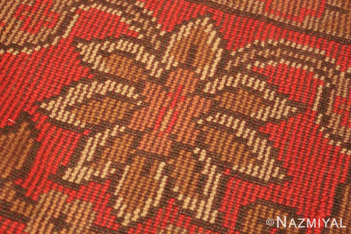 Weave detail Large Shabby chic Antique Irish Donegal carpet 2688 by Nazmiyal