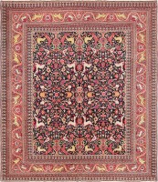 Antique Persian Khorassan Animal Motif Rug 47605
