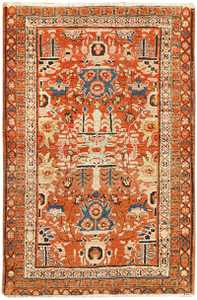 Antique Persian Bakshaish Rug 48243 Detail/Large View