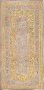 Late 17th Century Palace-Size Silk Indian Suzani Embroidery 46159 Nazmiyal