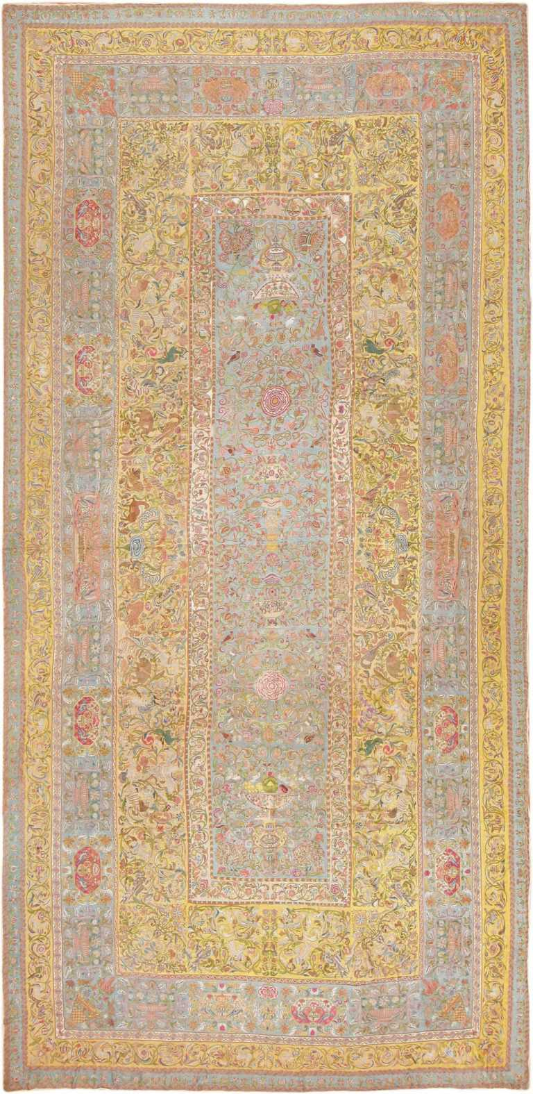 Late 17th Century Palace-Size Silk Indian Suzani Embroidery 46159 Nazmiyal