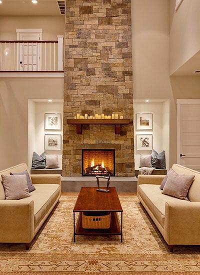Neutral Earthy Sandstone Interior Design by Nazmiyal