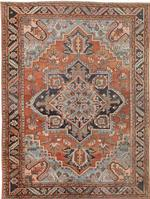 Antique Persian Heriz Serapi Rug 44802