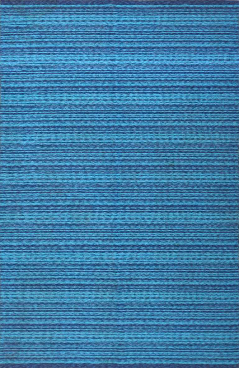 vintage double sided blue swedish kilim rug 48278 Nazmiyal