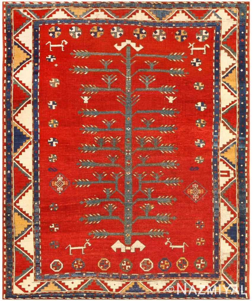 Antique Caucasian Kazak Rug 47503 Detail/Large View