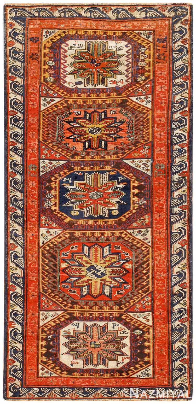 Soumak Antique Caucasian Carpet 47469 By Nazmiyal