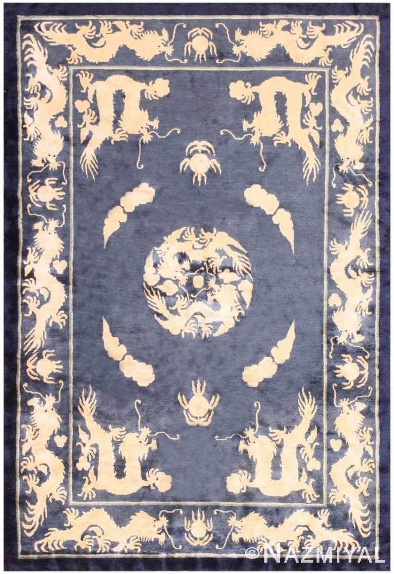 Antique Chinese Dragon Rug 48212 Detail/Large View