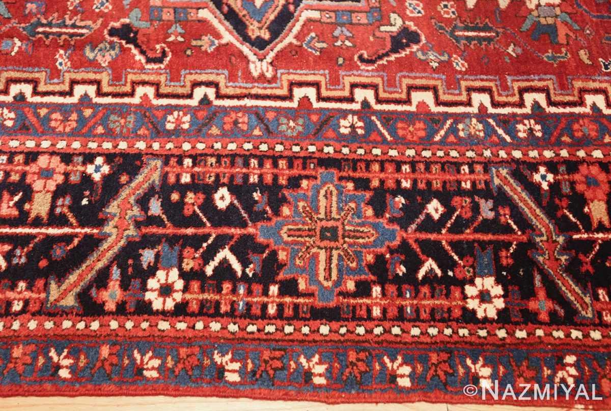 antique persian heriz rug 48316 border Nazmiyal