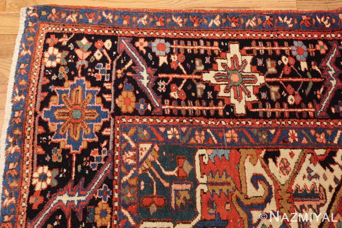 antique persian heriz rug 48316 corner Nazmiyal