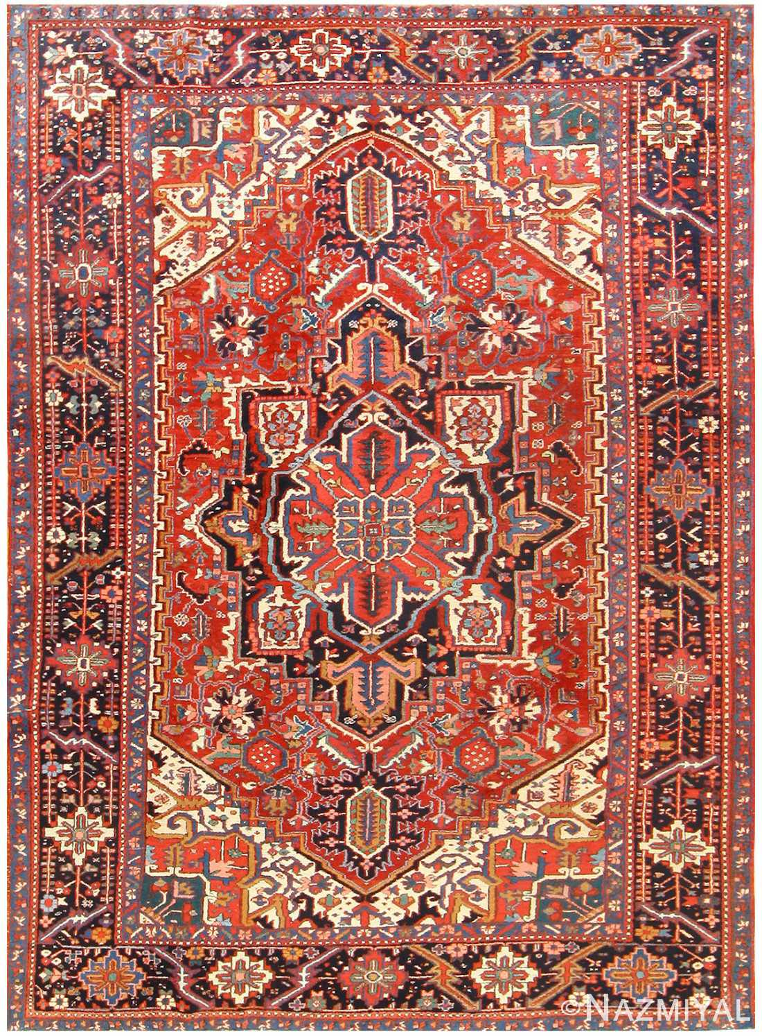 Antique Persian Heriz Rug 48316 by Nazmiyal