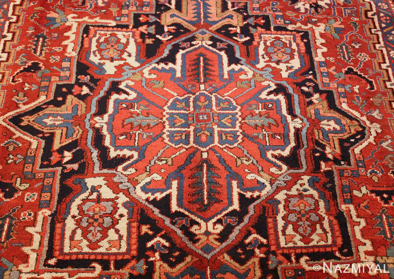 antique persian heriz rug 48316 medallion Nazmiyal