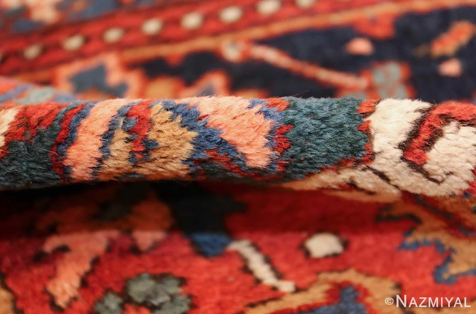 antique persian heriz rug 48316 pile Nazmiyal
