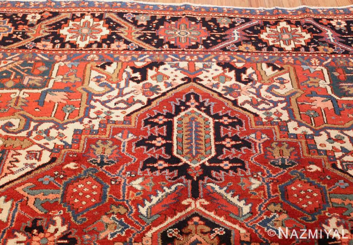 antique persian heriz rug 48316 top Nazmiyal