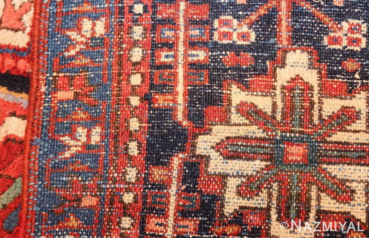 antique persian heriz rug 48316 weave Nazmiyal