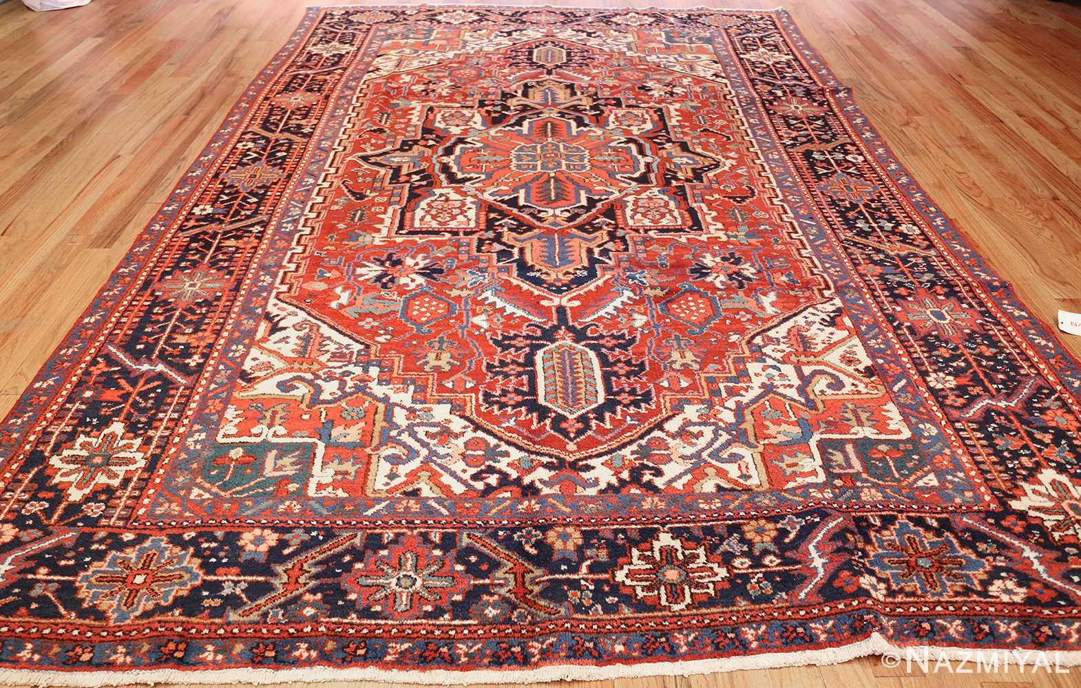 antique persian heriz rug 48316 whole Nazmiyal