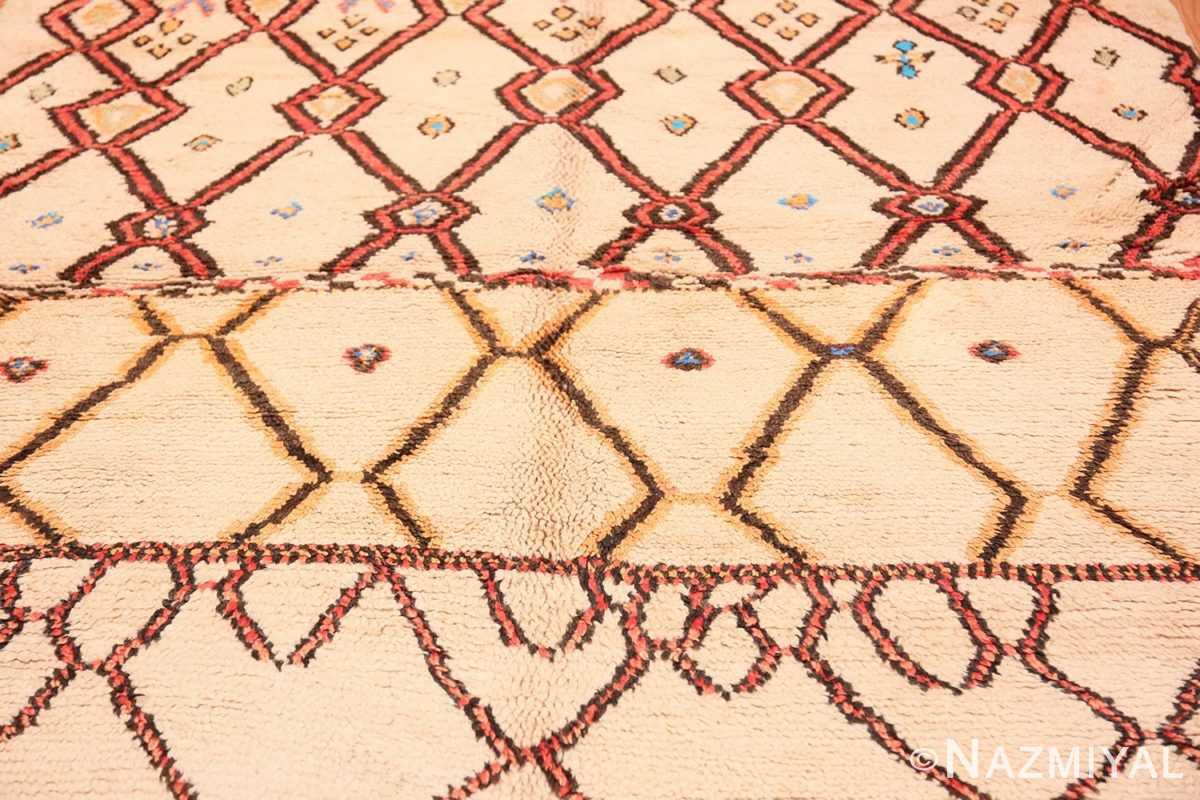 Background Folk Art Mid Century Vintage Tribal Moroccan rug 48354 by Nazmiyal