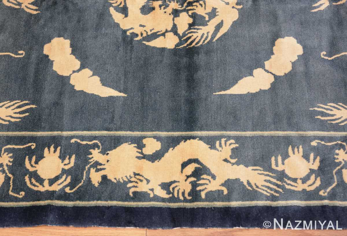 Border Antique Chinese Dragon rug 48212 by Nazmiyal