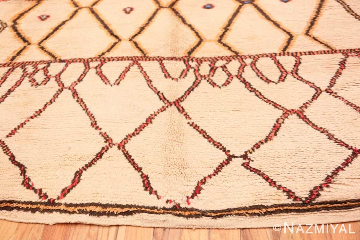 Border Folk Art Mid Century Vintage Tribal Moroccan rug 48354 by Nazmiyal