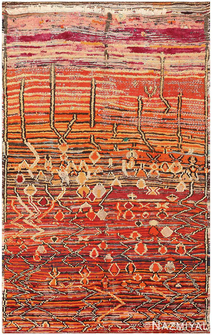 Colorful Vintage Moroccan Rug 48348 Detail/Large View