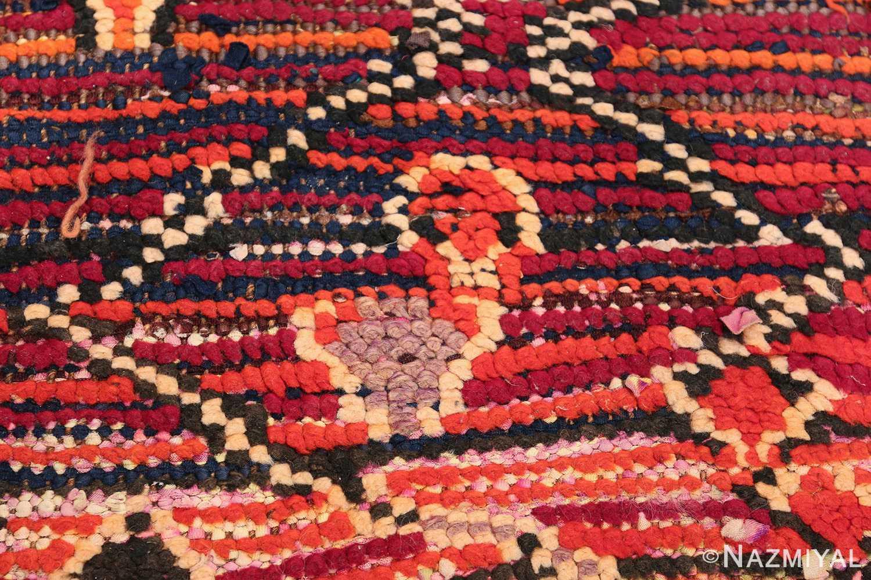 colorful Vintage Moroccan Rug 49859 Closeup Look Nazmiyal
