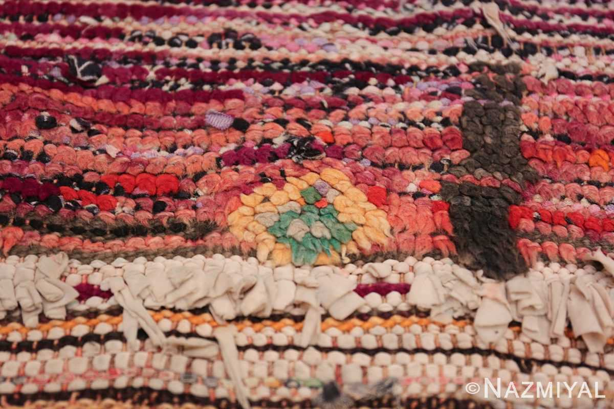 Colorful Vintage Moroccan Rug 49859 Ivory Diamond Nazmiyal