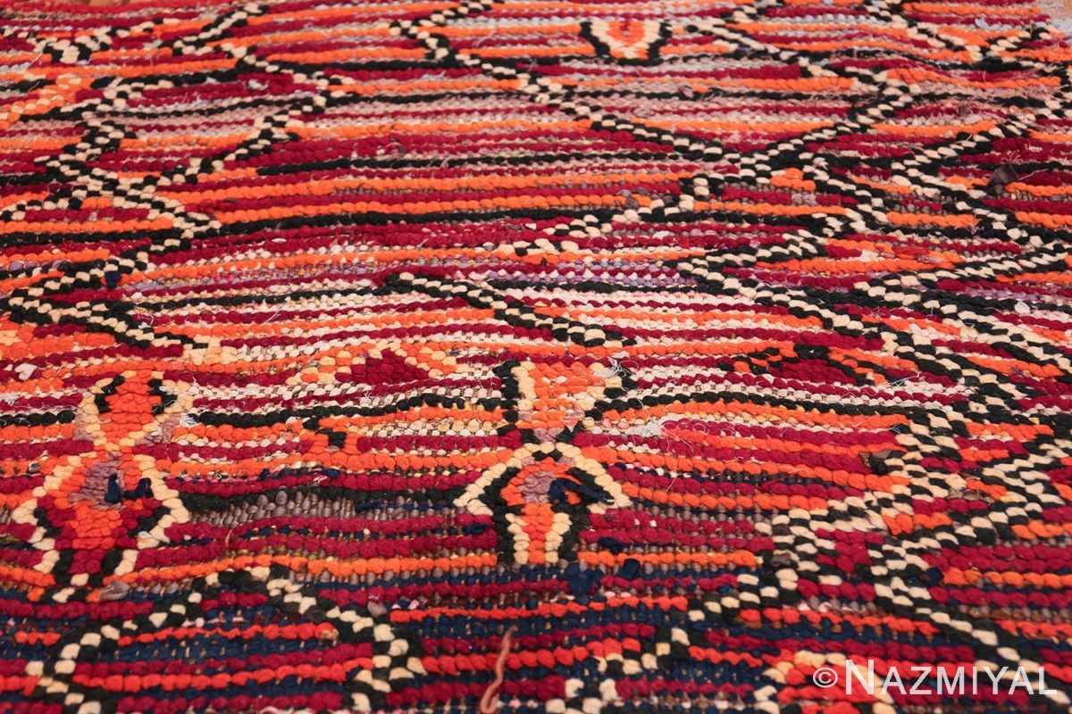 Colorful Vintage Moroccan Rug 49859 Jagged Lines Nazmiyal
