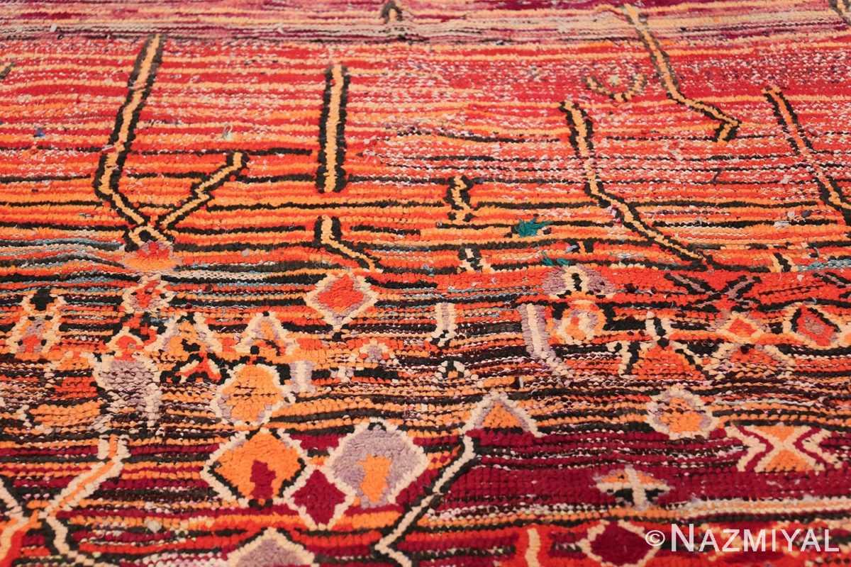 Colorful Vintage Moroccan Rug 49859 Orange Lines Nazmiyal