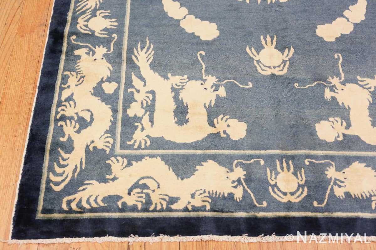 Corner Antique Chinese Dragon rug 48212 by Nazmiyal