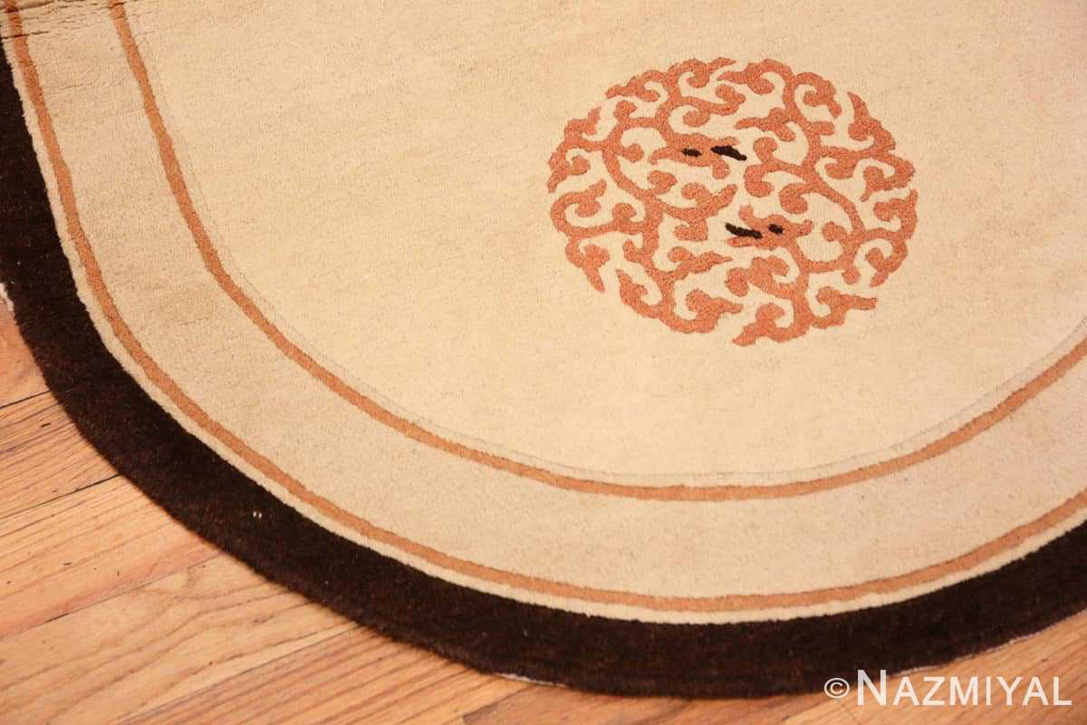 Corner Chinese Round Oval Art deco rug 48013 by Nazmiyal
