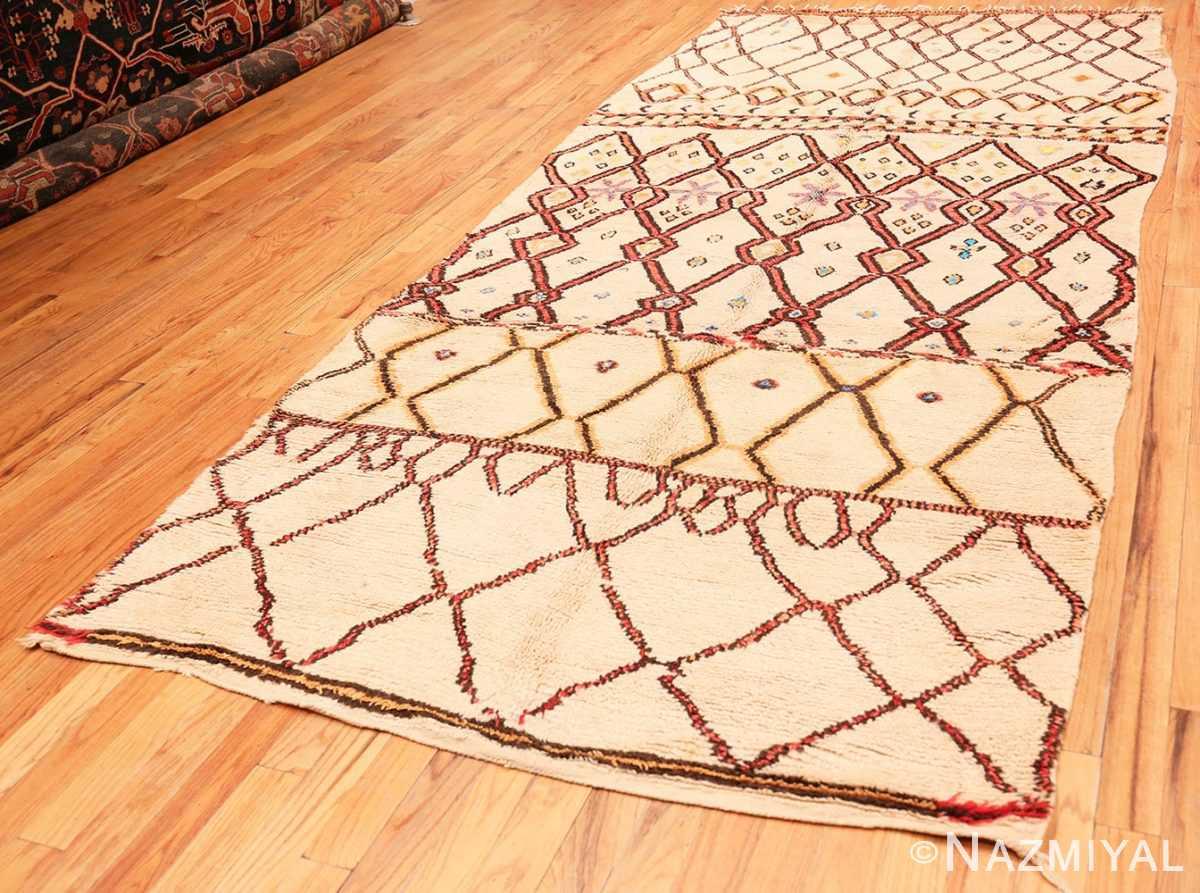 Full Folk Art Mid Century Vintage Tribal Moroccan rug 48354 by Nazmiyal