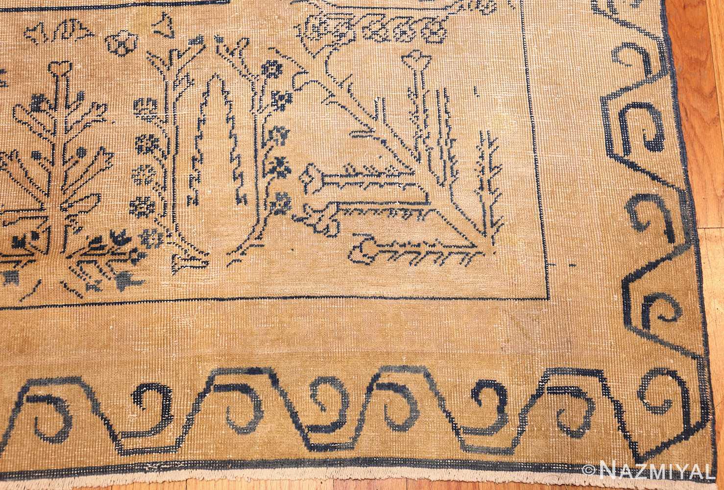 large antique indian carpet 48301 corner Nazmiyal