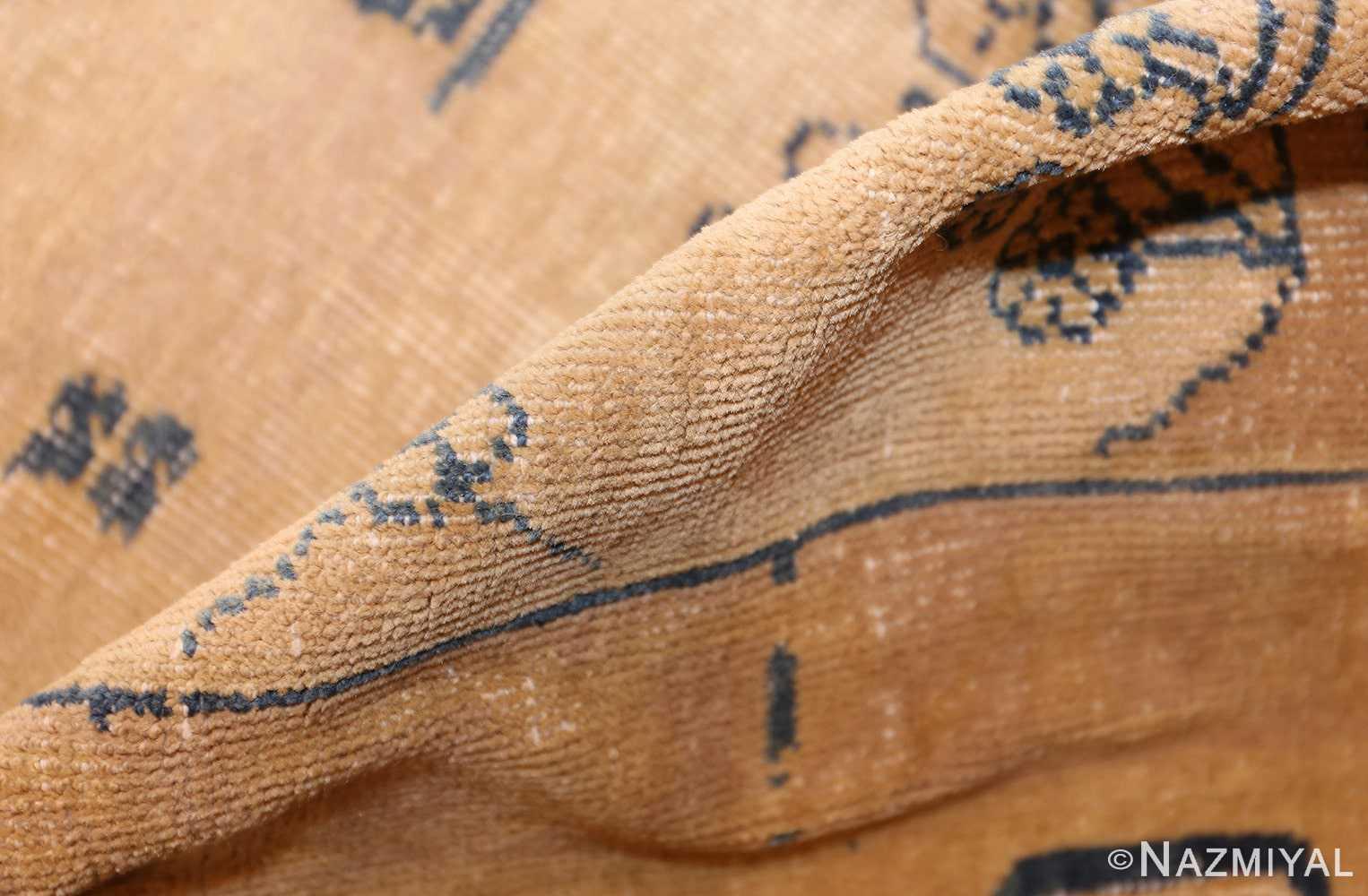 large antique indian carpet 48301 pile Nazmiyal