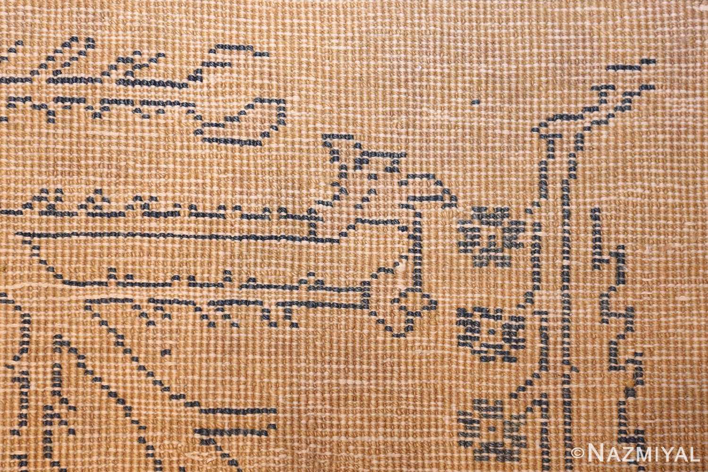 large antique indian carpet 48301 weave Nazmiyal