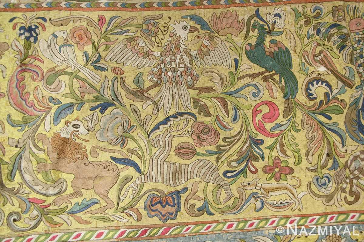 late 17th century palace size silk indian suzani embroidery 46159 eagle Nazmiyal