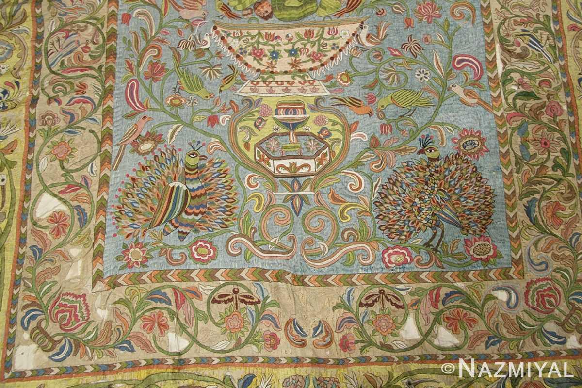 late 17th century palace size silk indian suzani embroidery 46159 field Nazmiyal