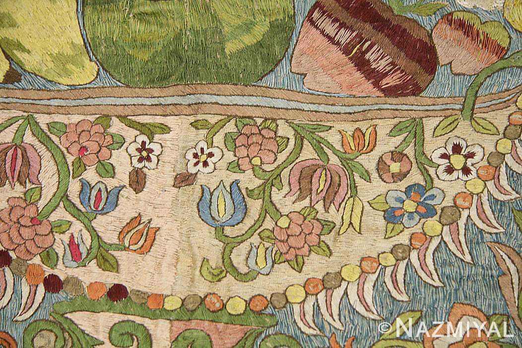 late 17th century palace size silk indian suzani embroidery 46159 texture Nazmiyal