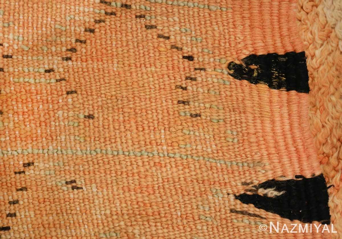 mid century vintage berber moroccan rug 48358 back Nazmiyal