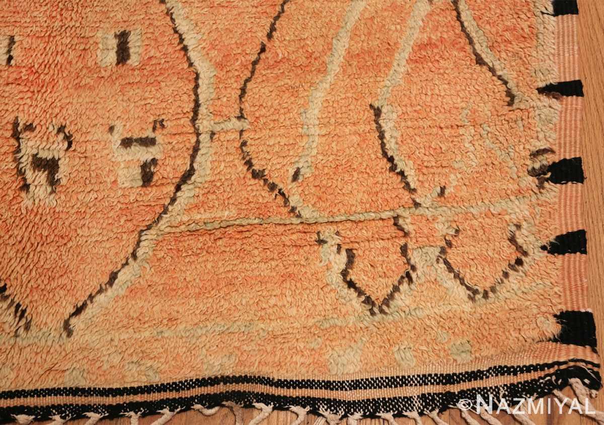 mid century vintage berber moroccan rug 48358 corner Nazmiyal