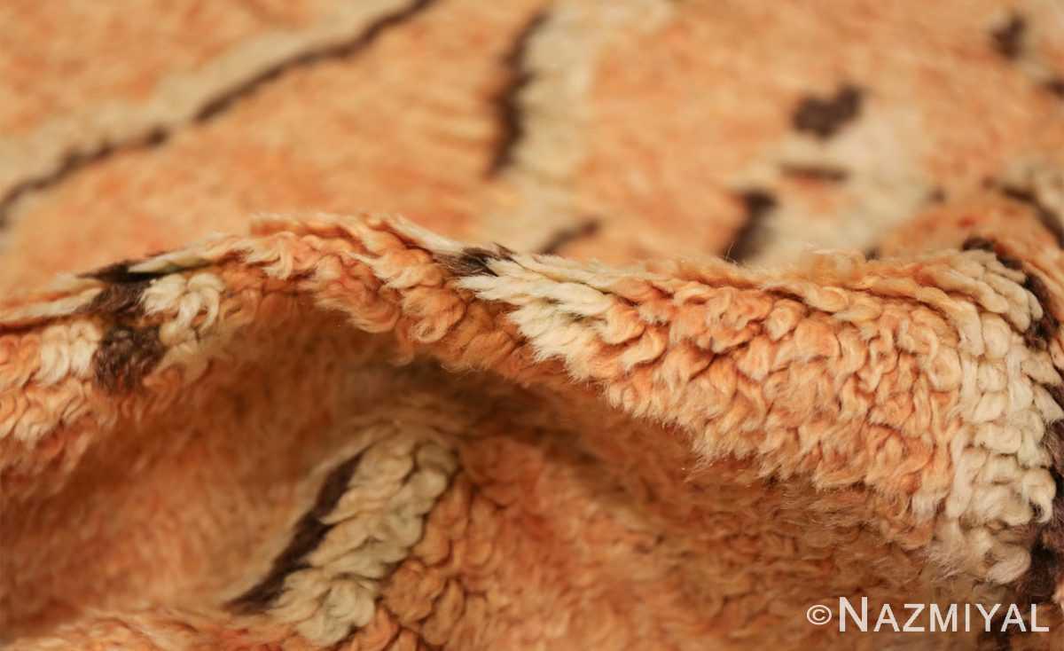 mid century vintage berber moroccan rug 48358 pile Nazmiyal