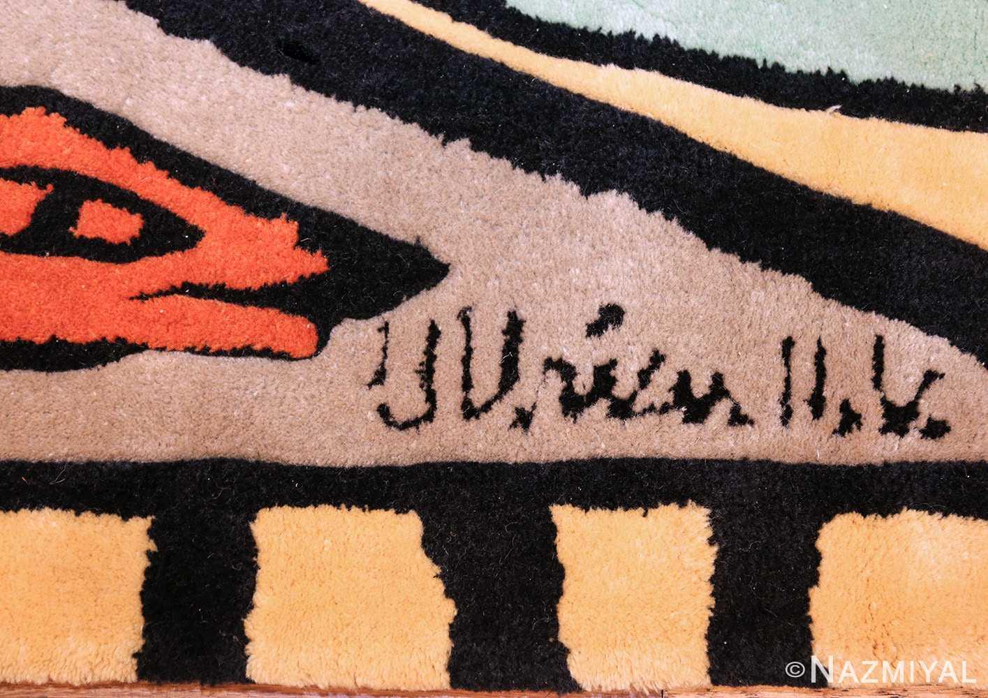 scandinavian rug after ulrica hydman vallien 48281 signature Nazmiyal