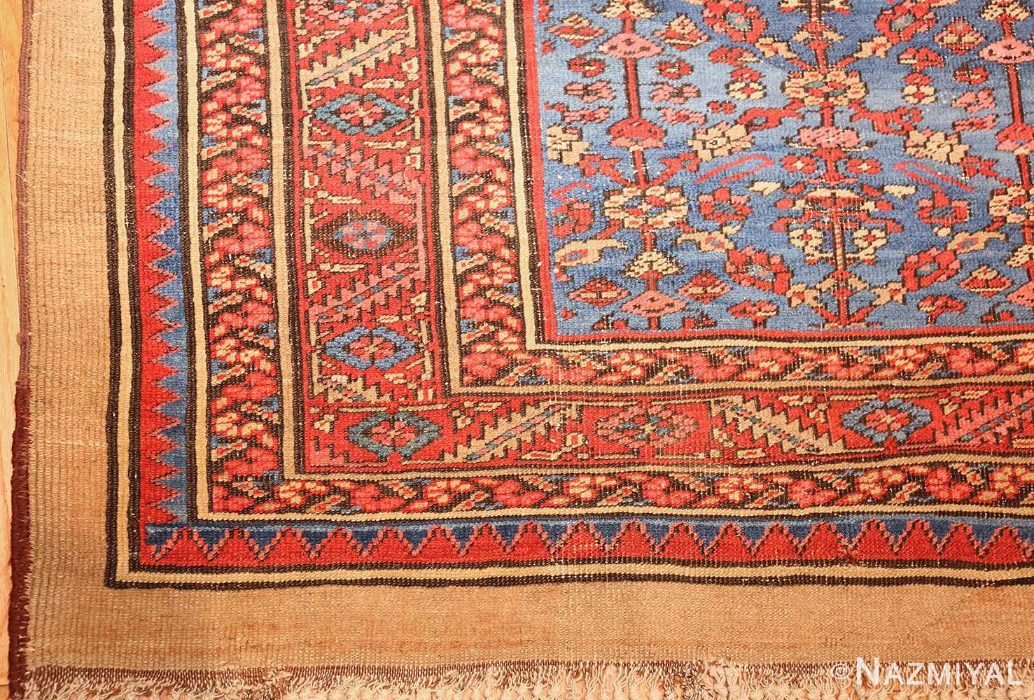 square antique persian bakshaish carpet 48246 corner Nazmiyal
