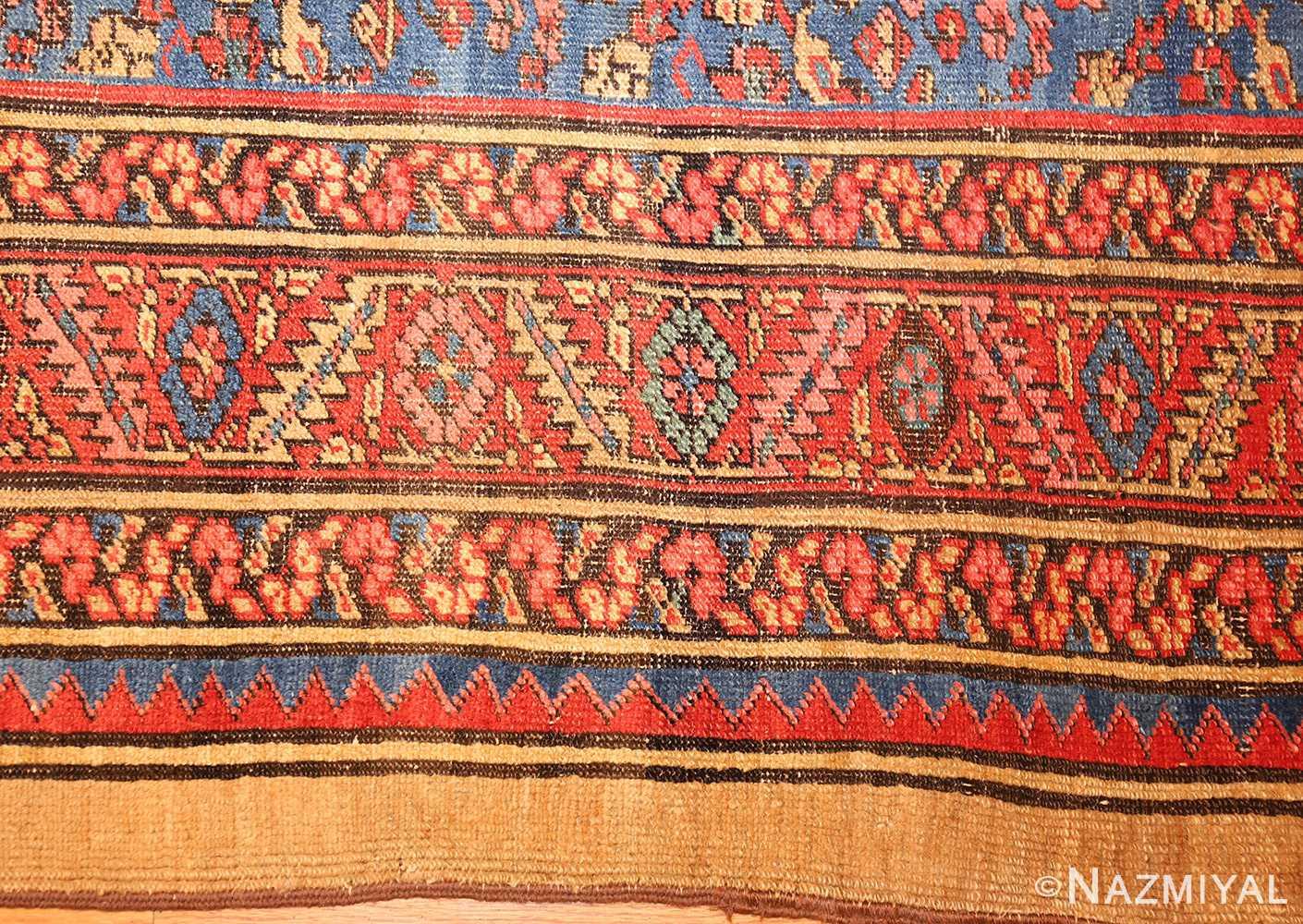 square antique persian bakshaish carpet 48246 part Nazmiyal