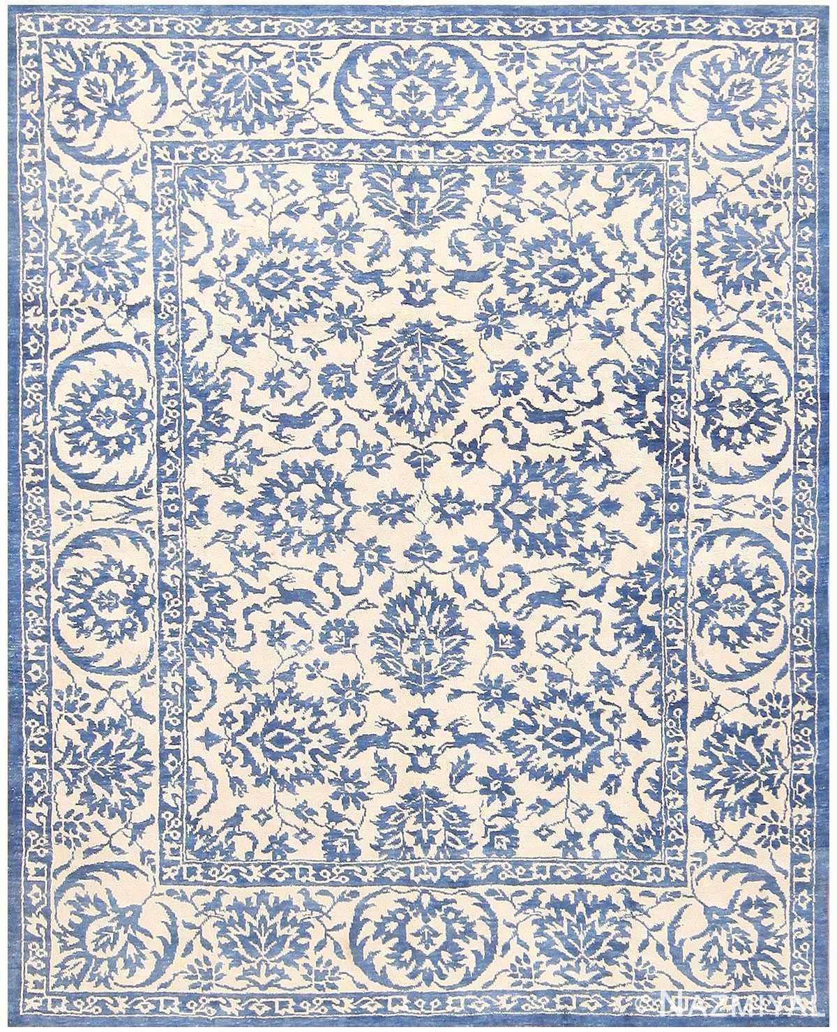Vintage Cotton Indian Agra Rug 48324 Detail/Large View