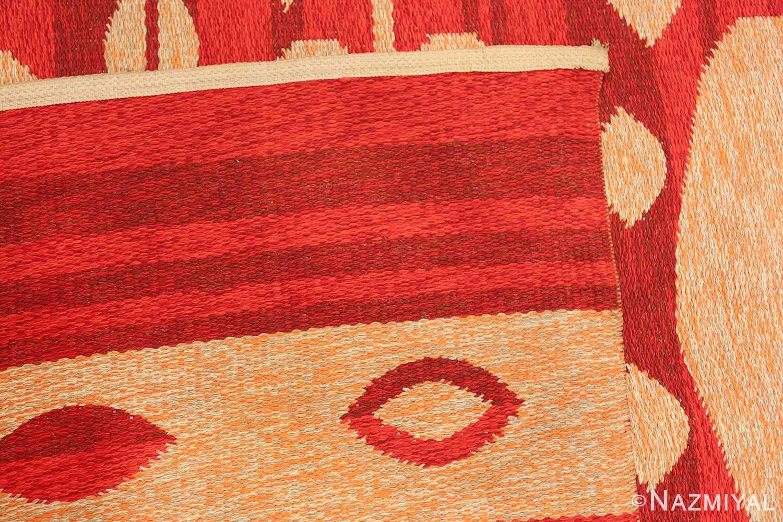 vintage double sided swedish kilim 48285 weave Nazmiyal