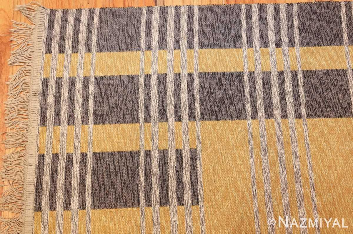 vintage double sided swedish kilim 48291 corner Nazmiyal