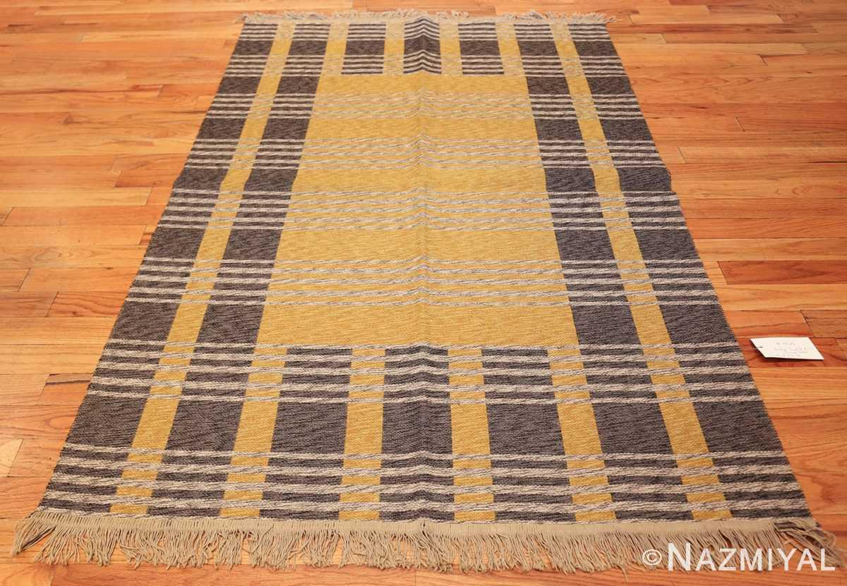 vintage double sided swedish kilim 48291 grey Nazmiyal