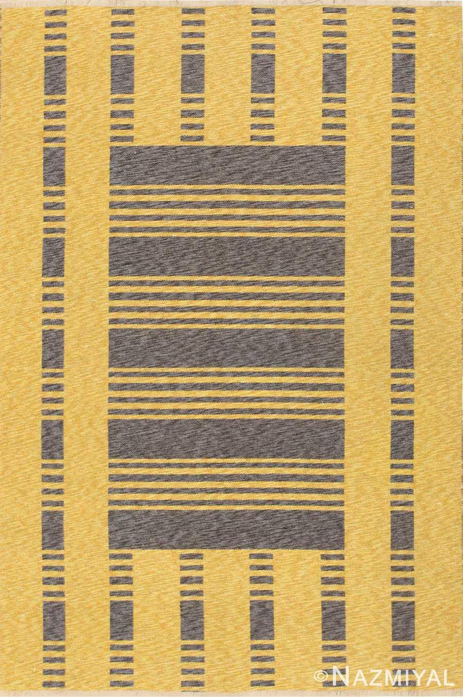 vintage double sided swedish kilim 48291 Nazmiyal